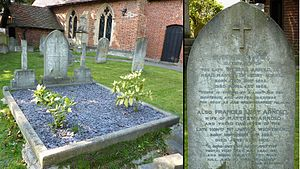 Matthew Arnold - Matthew Arnold's grave at All Saints' Church, Laleham, Surrey.