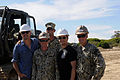 Matthew Lillard and Josh Charles pose with Naval Mobile Construction Battalion 133 Detail Rota Seabees September 2014.jpg