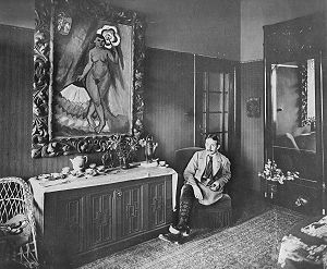 Max Pechstein - Max Pechstein in his house in Berlin-Zehlendorf, 1915