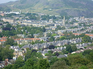 Mayfield, Edinburgh - The Mayfield area from Blackford Hill