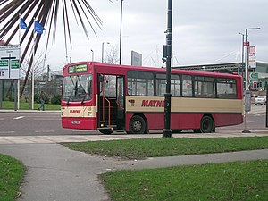 Mayne Coaches - Wright Handybus bodied Dennis Dart in January 2008