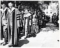 Mayor John F. Collins participating in procession at Harvard University commencement ceremony (10290666456).jpg