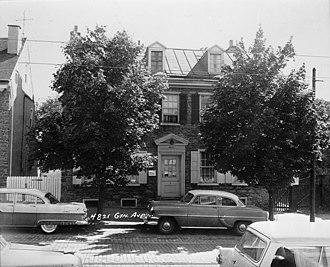 Colonial Germantown Historic District - Image: Mehl House HABS PA,51 GERM,6 1