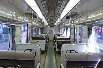 Meitetsu 1380 series - Image: Meitetsu 1200Interior