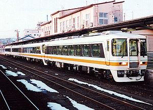 Meitetsu KiHa 8500 series - A KiHa 8500 series train in 1992