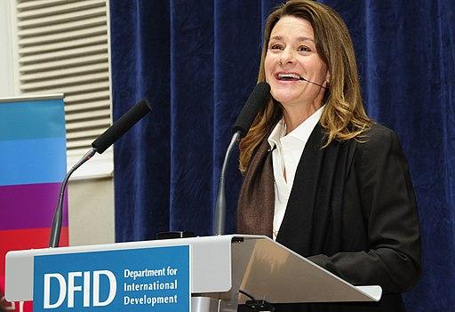 Melinda Gates speaking at DFID (5093646448)