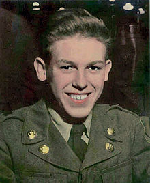 A young looking man in a military uniform