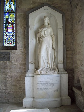 St Cuthbert's Church, Holme Lacy - Memorial to Mary Scudamore Stanhope