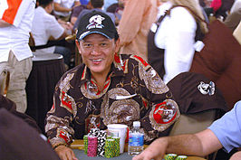 Nguyen tijdens de World Series of Poker 2006