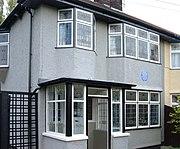 Casa en la que vivio Lennon en su niñez en Liverpool, Mendips, 251 Menlove Avenue.
