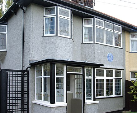 Lennon's home at 251 Menlove Avenue Mendipsnationaltrust.JPG