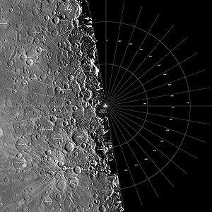 Bach quadrangle - Photomosaic of Mariner 10 images
