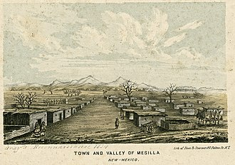 Mesilla, New Mexico - Mesilla in 1854
