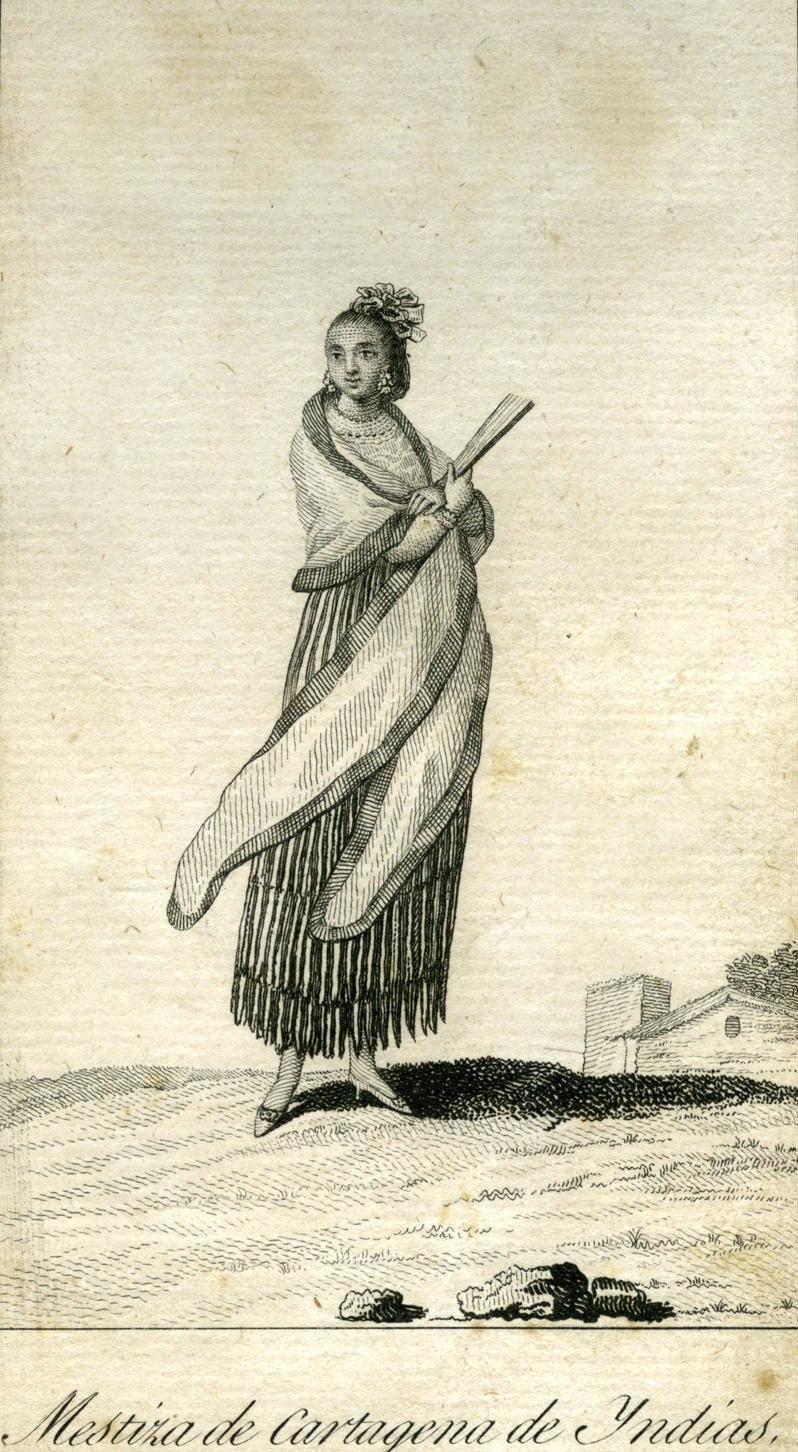 Mestiza of Cartagena de Indias (Colombia) circa 1799