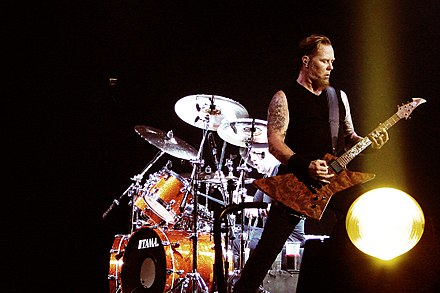 "Metallica performing live ""Of Wolf and Man"" at 02 Arena, London (2008) Metallica Of Wolf and Man.jpg"