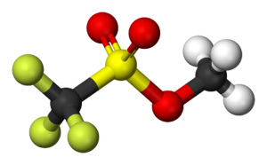 Methyl trifluoromethanesulfonate - Image: Methyl triflate 3D balls