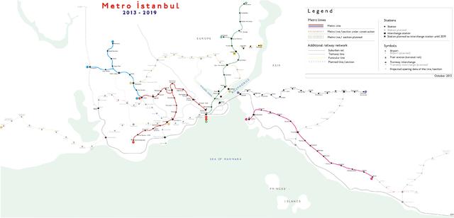 File Metro Istanbul Map July 2013 Wikimedia mons
