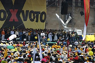 Controversies of the 2006 Mexican general election - Image: Mexico City rally 7 30 06 2