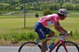 Michael Matthews (cyclist) - Matthews wearing the pink jersey at the 2014 Giro d'Italia