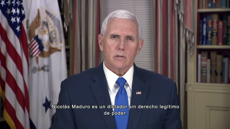 File:Mike Pence says Maduro is dictator.png