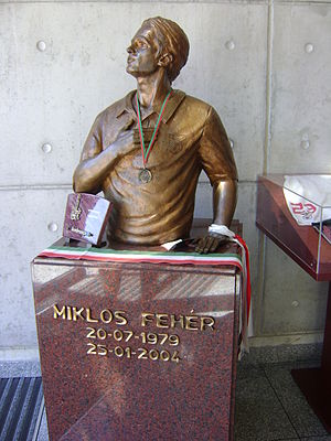 Miklós Fehér - Fehér memorial at the Estádio da Luz