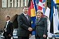Ministru prezidents Valdis Dombrovskis tiekas ar Vācijas kancleri Angelu Merkeli (7309138842).jpg