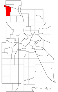Location of Victory within the U.S. city of Minneapolis