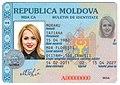 Moldovan ID card (plastic part front side, 1996 year model).jpg