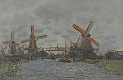 Claude Monet: Windmills near Zaandam
