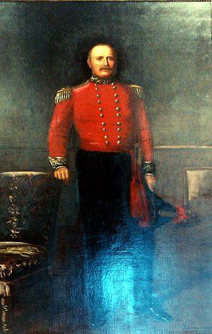 John Rolls, 1st Baron Llangattock - Portrait in The Rolls Hall, Monmouth