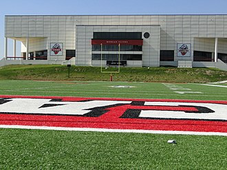 Lamar Cardinals and Lady Cardinals - Image: Montagne Center and Morgan Suites at Provost Umphrey Stadium
