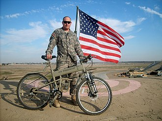 Montague Bikes - Picture of a Montague Paratrooper bike in Afghanistan.
