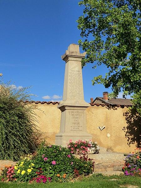 Monument aux morts de Blyes.