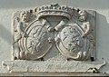 Moosburg Schloss Supraporte Doppelwappen Kronegg Zinzendorff 26012016 2668.jpg