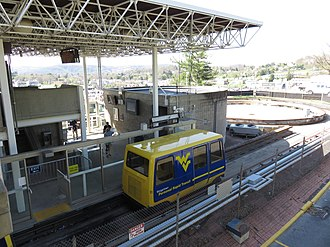 Morgantown Personal Rapid Transit - A PRT car in the Medical station