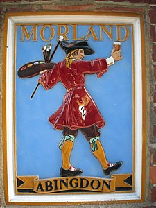 Morland Brewers plaque, The Greyhound, Letcombe Regis, Oxfordshire.jpg