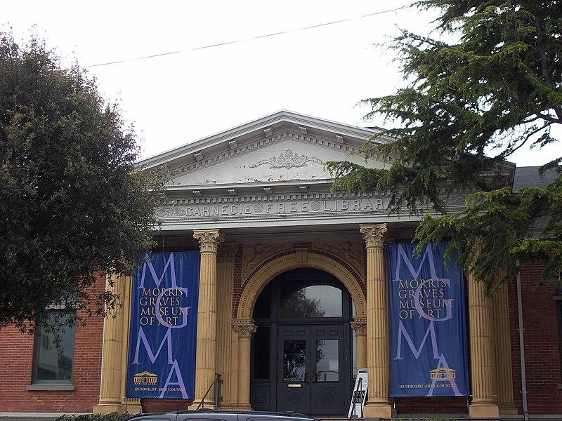 File:Morris Graves Museum - Carnegie Library Front Detail.jpg