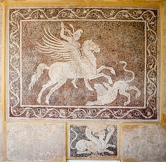 Mosaic floor with the representation of Bellerophon and Chimaira.jpg