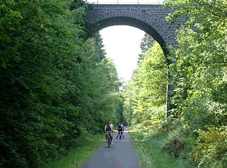 Bike path - Image: Mosel maare cycleroute