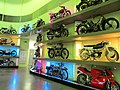 Motorcycle wall - Riverside Museum - Scotland's Museum of Transport and Travel, Glasgow, Scotland.jpg