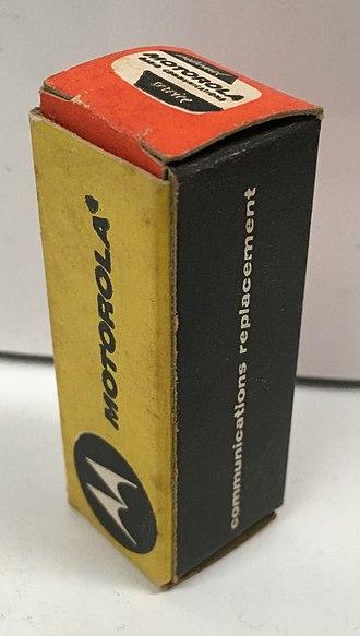 Motorola - Motorola vacuum tube carton