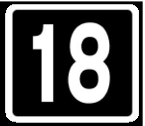 R132 road (Ireland) - Image: Motorway Exit 18 Ireland