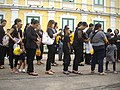 Mourning for King Bhumibol Adulyadej in front of the Royal Palace - 2017-10-13 (02).jpg