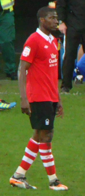 Guy Moussi - Moussi playing for Nottingham Forest in 2011