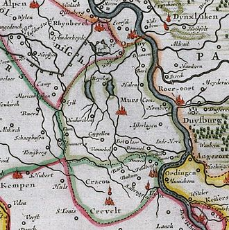 Moers - The County of Moers in 1635