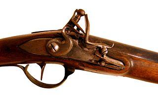 Flintlock firearm using a flintlock mechanism