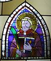 Museo di santa croce, vetrata attr. giotto, santo diacono.JPG