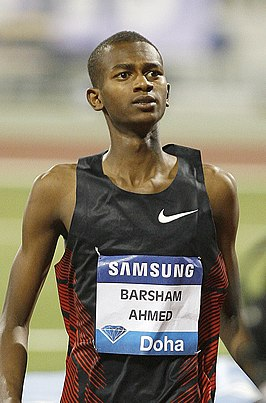 Barshim tijdens de Diamond League van 2011 in Doha.
