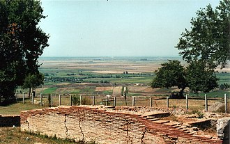 Geography of Albania - The Plain of Myzeqe seen from the ancient city of Apollonia.
