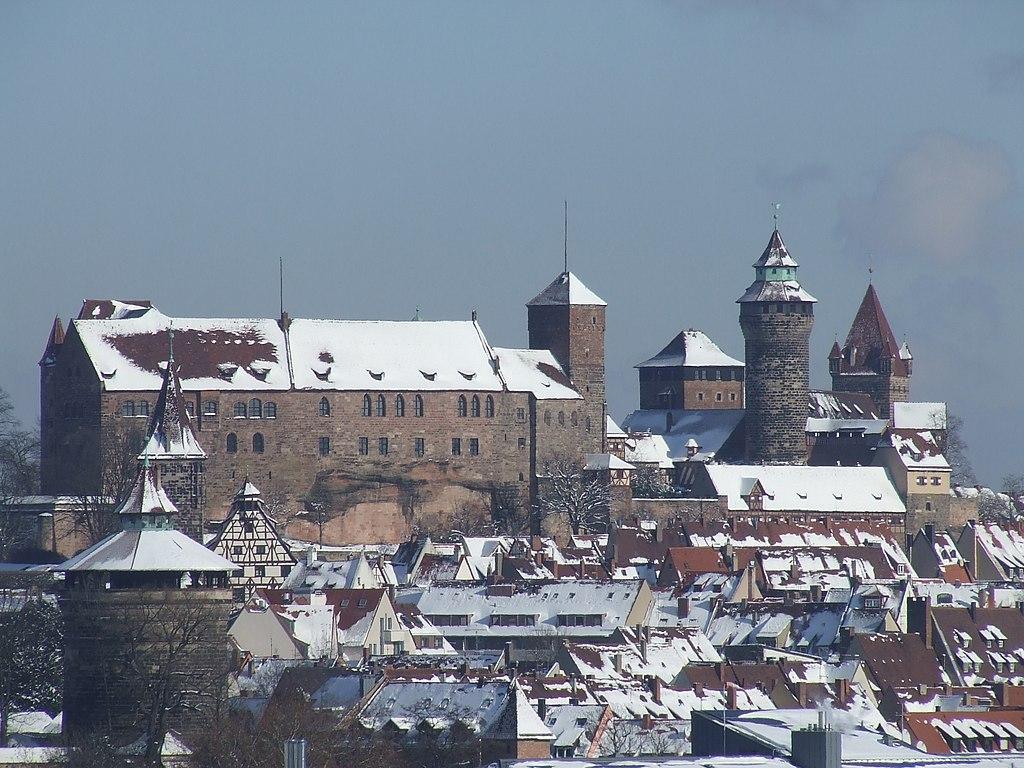 Nürnberger Burg im Winter von SüdWest